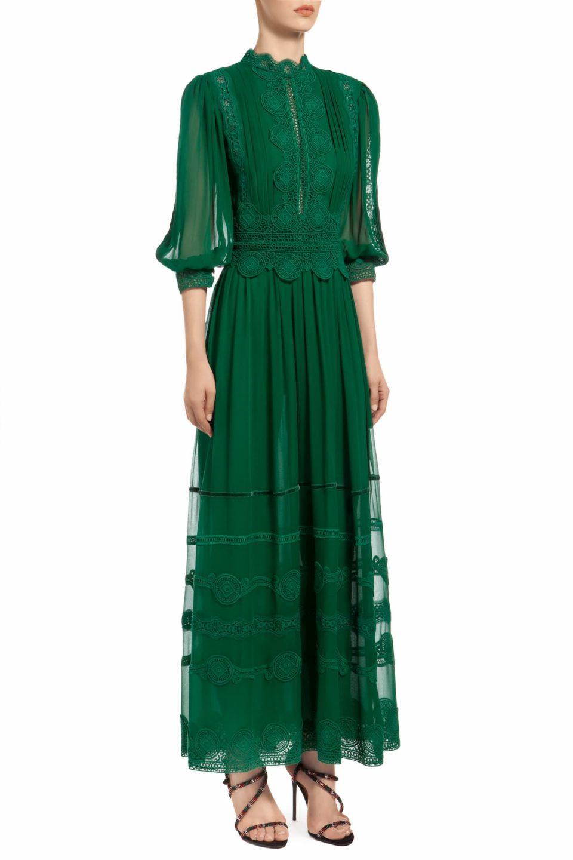 Hazelle Silk Chiffon Dress