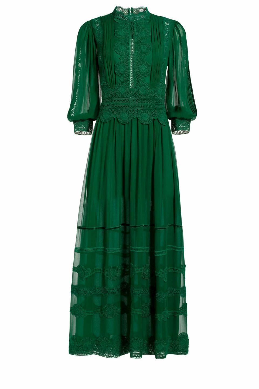 Hazelle Silk Chiffon Dress Costarellos