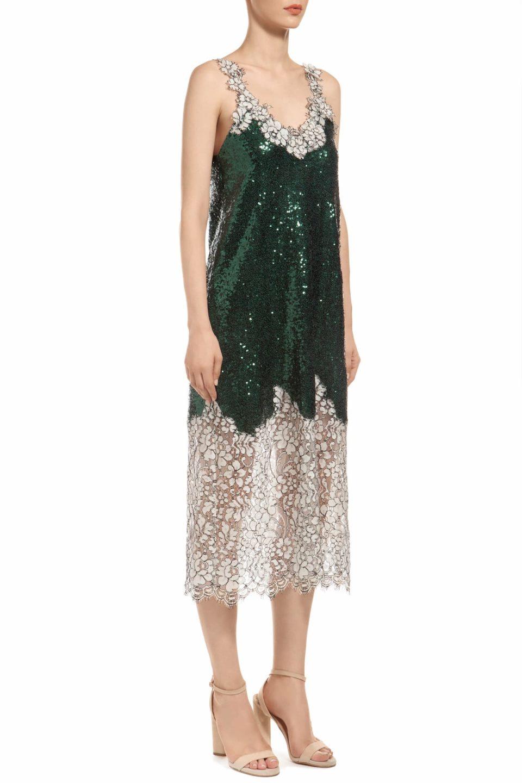 Gatsnie Sequin Lace Midi Dress