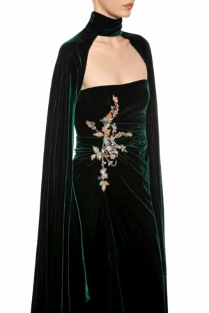 Thissa royal green cape-sleeved shrug FR 1939