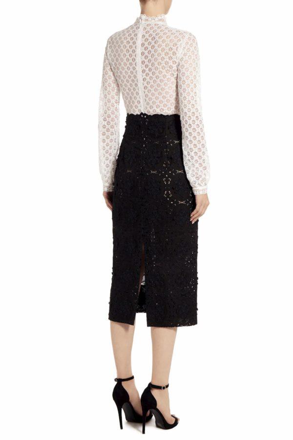 Amissa black & white Guipure lace dress PS 2015