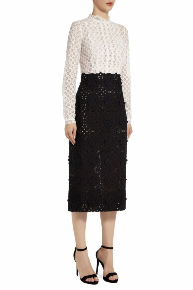 Amissa black & white Guipure lace dress PS 2015