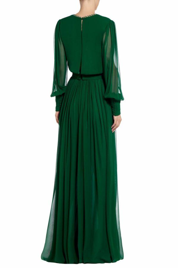 Janda emerald green silk chiffon jumpsuit PS 2061
