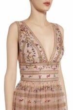 Darinne rose empire-waist embroidered dress PS 2080