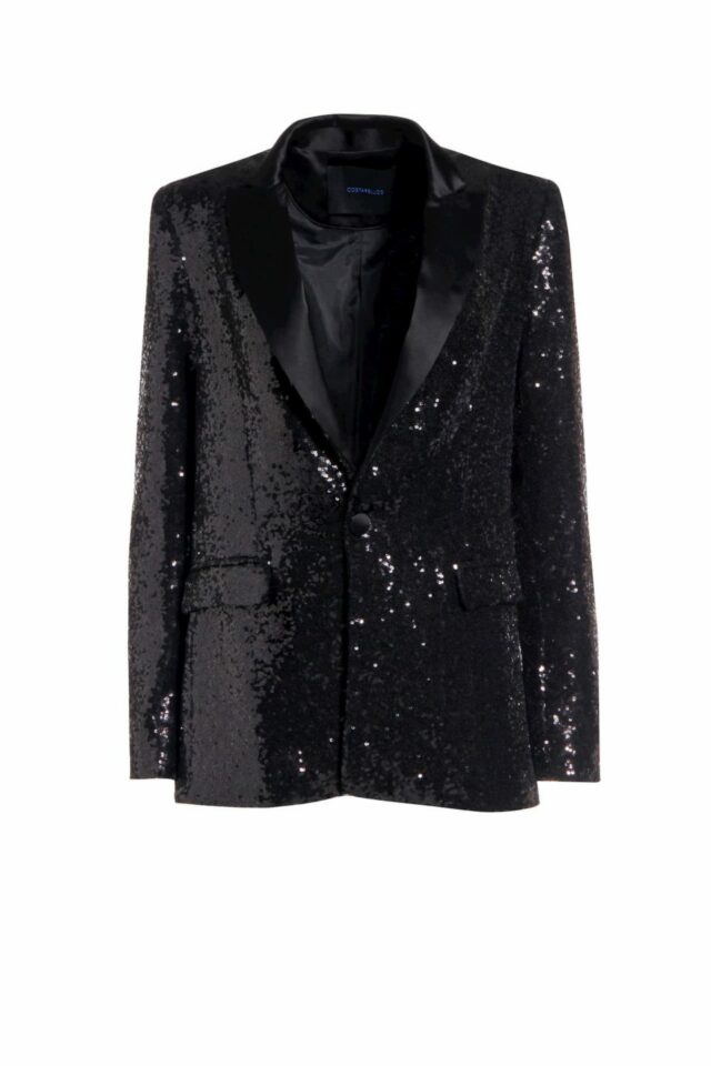 Keather black sequin tailored blazer PS 2026
