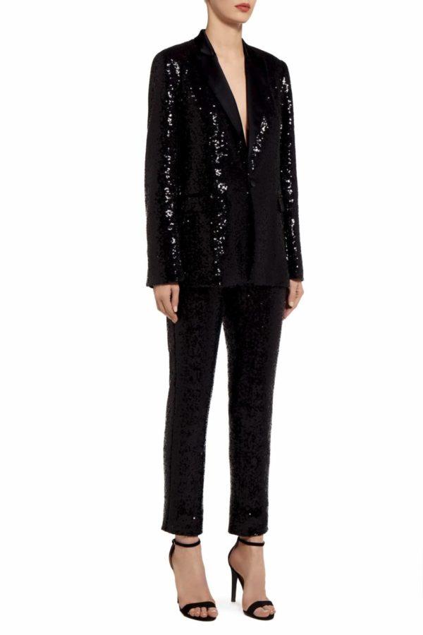 Kela black sequin cigarette trousers PS 2027
