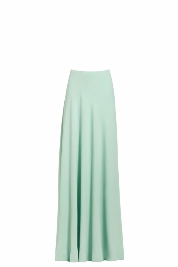 Mistina green crepe maxi skirt PS 2049