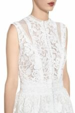 SS2066 tonnie white guipure lace peplum top with cut-outs