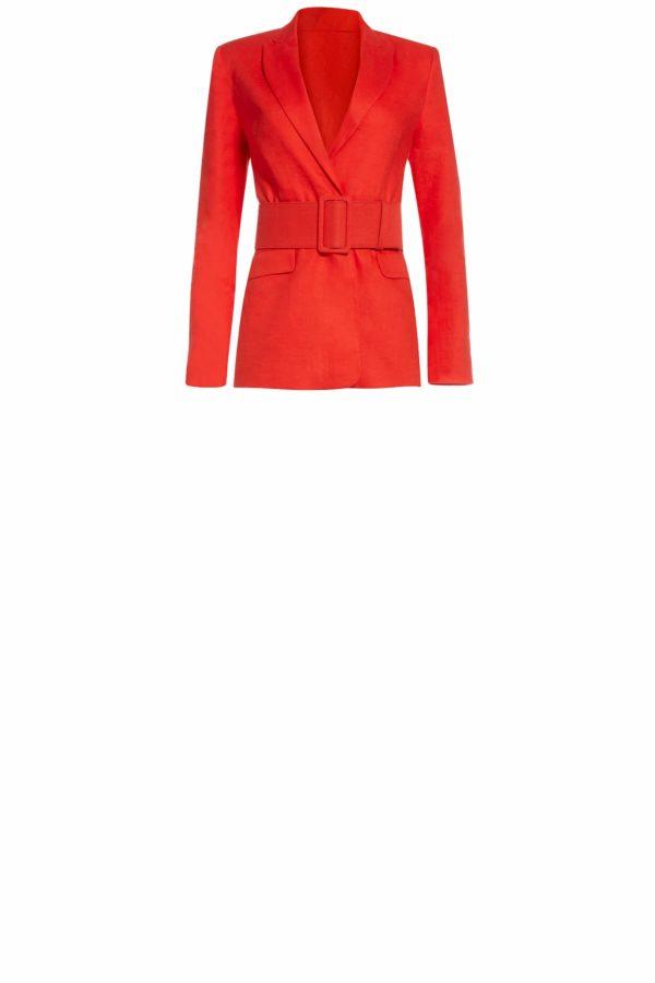 Saranthia red linen blazer SS2043