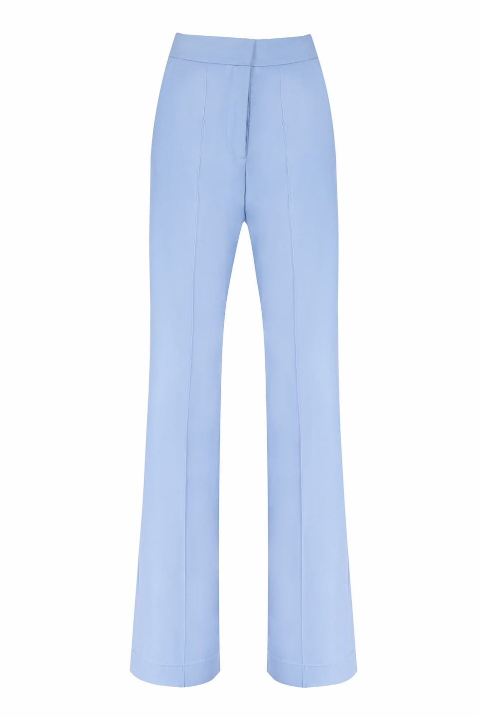 Annis FW2052 blue Refined Wool Pintuck Wide-Leg Trousers
