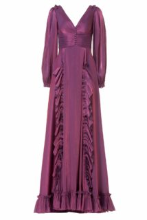 Selda Lurex Georgette Gown