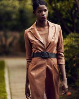 PR2155 Kessa Leather Blazer Jacket Dress