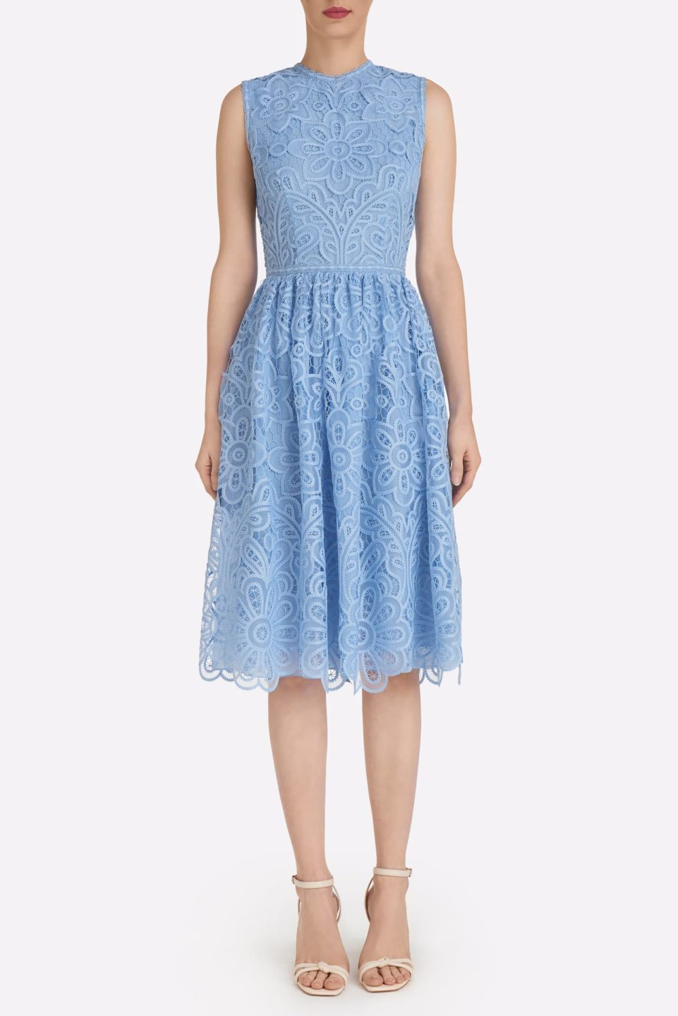 Payton SS2110 blue embroidered organza dress