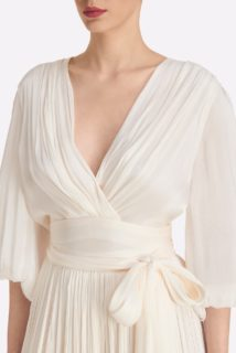 Ivy SS2140 Iridescent Lurex Georgette Faux Wrap Top