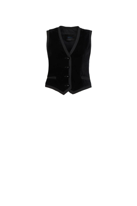 Mellie PR2146 Black Cotton Velvet Waistcoat