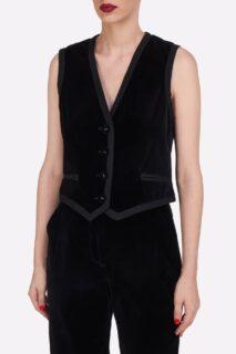 Mellie PR2146 & Juleen PR2147 Black Cotton Velvet Waistcoat and Cotton Velvet Trousers